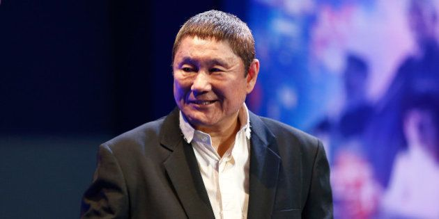 TOKYO, JAPAN - MARCH 16: Takeshi Kitano attends the official press conference ahead of the World Premiere...