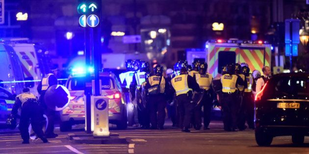 Police attend to an incident on London Bridge in London, Britain, June 3, 2017. Reuters / Hannah