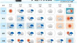 西日本を中心に災害に直結するような大雨となる所も(週間天気)