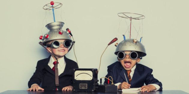 Two young boys are ready to dive into the brain of your business. Analyze