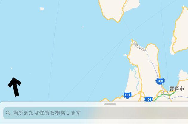 iOSの「マップ」より
