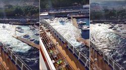 クルーズ船がマリーナを破壊 乗客「なんてっこった、ボートがぶっ壊れていく!」【動画】