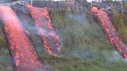 ハワイの溶岩流、村を焼く(動画)