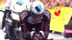 「15秒差の2位争いを逆転して涙が溢れ止まらないペロー」ツール・ド・フランス2014 第20ステージ