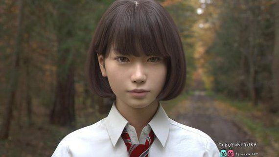 【注意】この女子高生は実在しません。CGのクオリティが現実を超えた