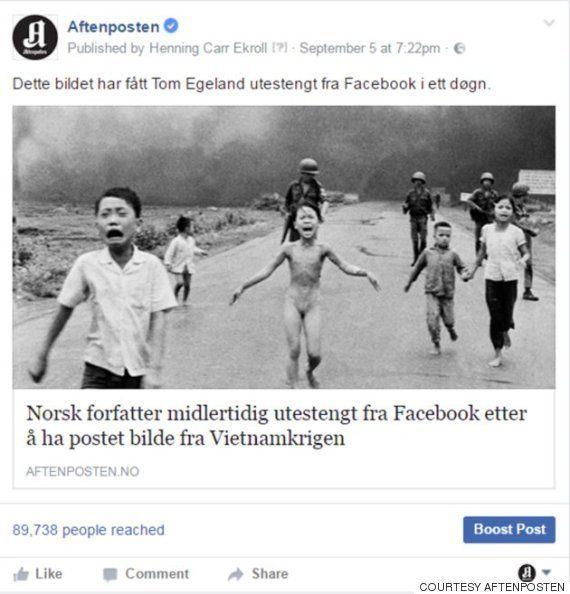 ピュリツァー賞の写真を「児童ポルノ」として削除 Facebookが検閲撤回へ