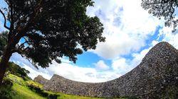 沖縄の世界遺産、今帰仁城壁が崩落。台風7号の影響か