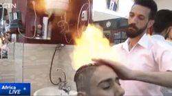 火の玉スタイリングがエジプトで激アツ いま一番「ホット」な美容室はここだ