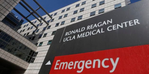 FILE - In this Feb. 19, 2015, file photo, The Ronald Reagan UCLA Medical Center building is seen in Los...