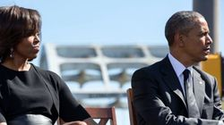 トランプ大統領が夫人に手つなぎを拒否された。一方、オバマ前大統領は..【画像】