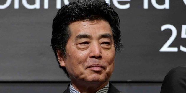 モンブラン文化財団が開催した「第25回モンブラン国際文化賞」に出席した作家の村上龍さん(東京都中央区の第一生命ホール)