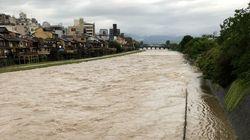 大雨特別警報、京都府