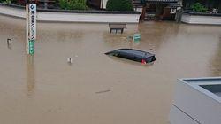 西日本豪雨、「大雨で浸かった車、水が引いても使用しないで」