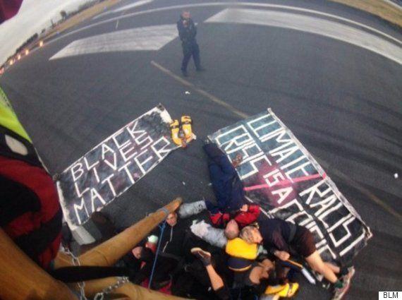 「黒人の命だって大切だ」を名乗る活動家たちが空港占拠、しかし全員白人(画像)