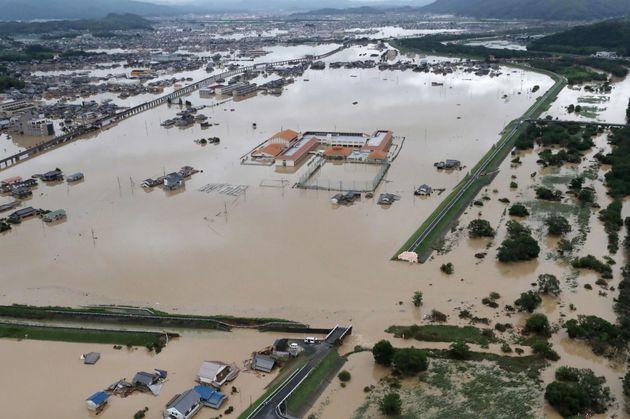 大規模な被害が出た倉敷市真備町地区