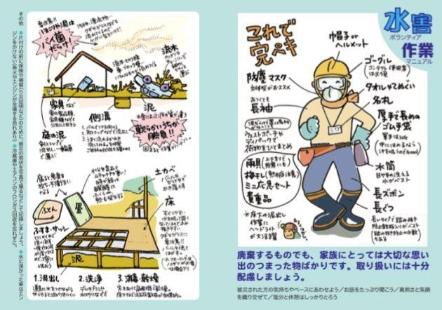 「水害ボランティア作業マニュアル」(日本財団、レスキューストックヤード発行)より。