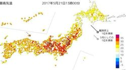 東京都心で今年初めての真夏日 熱中症対策を