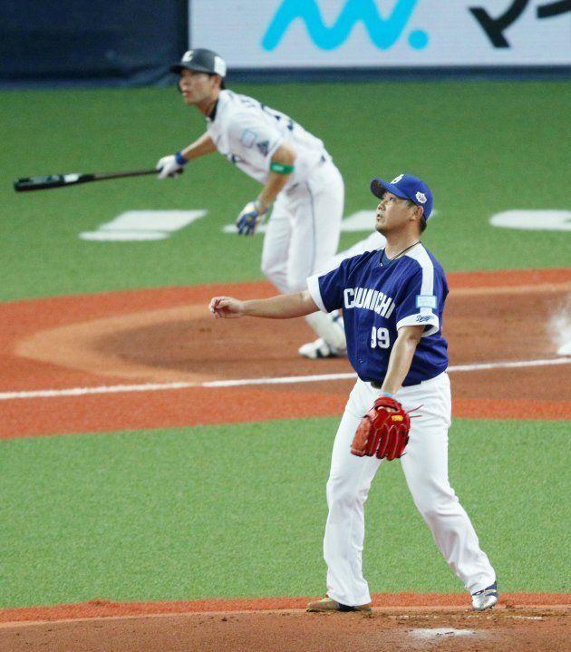 秋山に先制本塁打を打たれる松坂