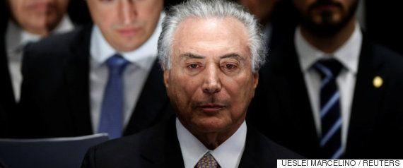 ブラジルのテメル大統領、汚職事件の口止め工作関与か 辞任は否定