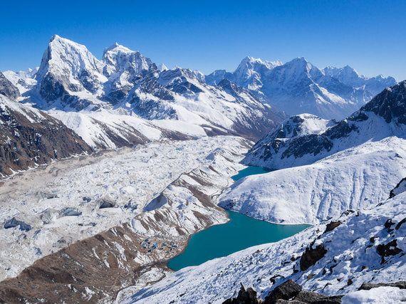 渇きを癒やす氷河