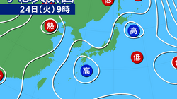 災害級の暑さ、7月24日も続く 東京など関東も午後はゲリラ豪雨に注意