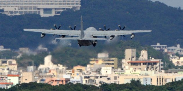 TO GO WITH Japan-US-diplomacy-military-demonstration by Harumi Ozawa This photo taken on November 7,...