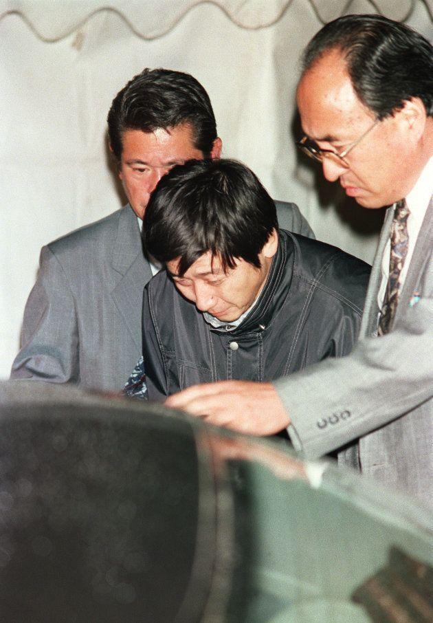 供述通りに坂本堤弁護士の遺体が発見されたことから逮捕された元幹部の岡崎一明容疑者(新潟・名立町)