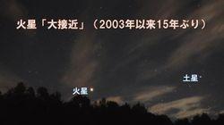 火星、15年ぶりの「大接近」 7月27日夜は観察のチャンス