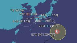 台風12号は上陸直前まで勢力維持 猛暑で海水温高く