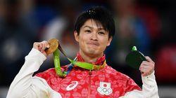 内村航平が金メダルを披露、帰国して最初に食べたものは...【リオオリンピック】