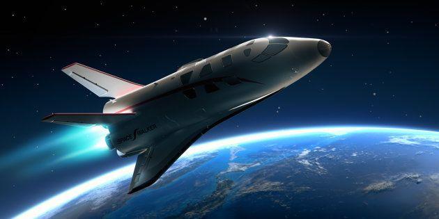 スペースウォーカーが計画する有人宇宙飛行機のイメージ画像