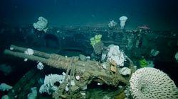 太平洋戦争、原爆実験を経て...海底の米空母を65年ぶりに撮影【動画】
