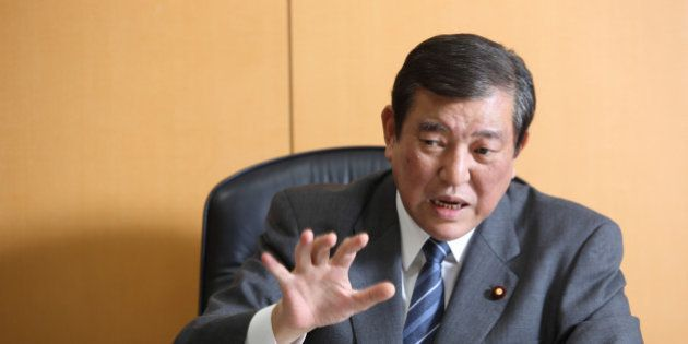 Shigeru Ishiba, Japan's minister in charge of overcoming population decline and vitalizing local economy,...