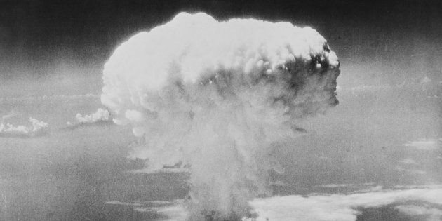 Atomic explosion over Hiroshima Japan, August 6th,