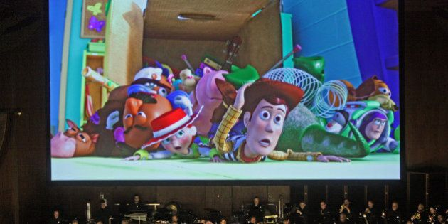 David Newman leads the New York Philharmonic in 'Pixar in Concert' at Avery Fisher Hall on Thursday night,...