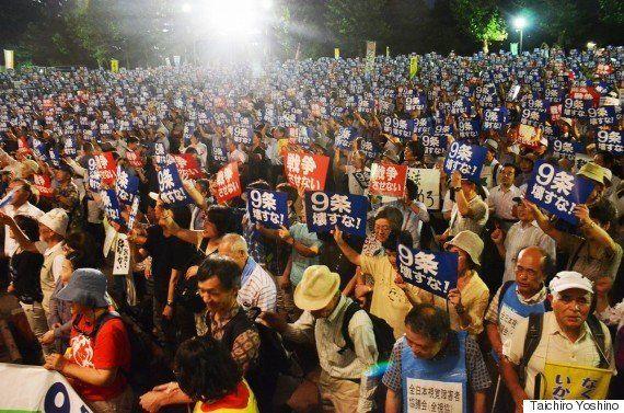 安保法制、2万人が反対デモ