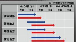 台風13号、強い勢力で東京など関東直撃