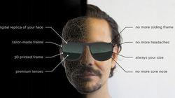 個人の顔の形に合わせてフレームをカスタマイズできるメガネ