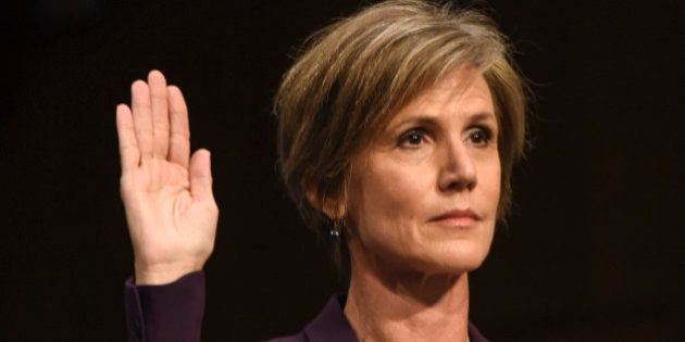 WASHINGTON, DC - MAY 8:Former Acting Attorney General Sally Yates is sworn in before she testifies before...