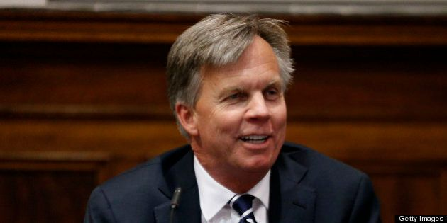 Ron Johnson, chief executive officer of J.C. Penney Co., testifies at State Supreme court in New York,...