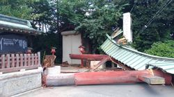 鷲宮神社の鳥居が倒壊。「らき☆すた」の聖地で何が?