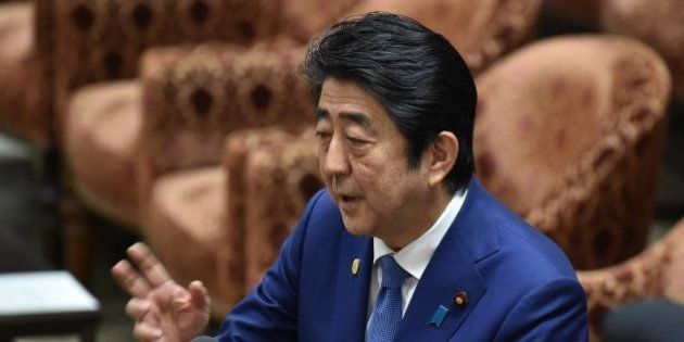 Japan's Prime Minister Shinzo Abe answers questions during a budget committee session of the House of...