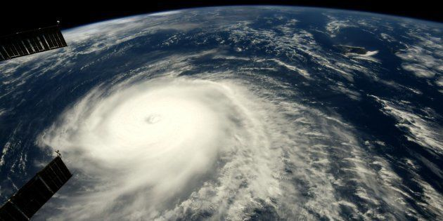 国際宇宙ステーションでリッキー・アーノルドさんが撮影。8月8日にTwitterに投稿したハリケーン「へクター」