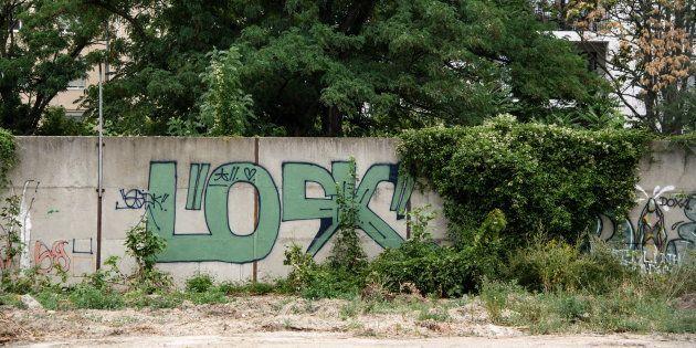 新たに「発見」されたベルリンの壁の一部(ドイツ・ベルリン)