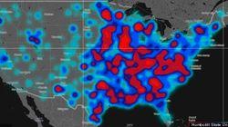 「差別的ツイートが多い地域」がわかる地図