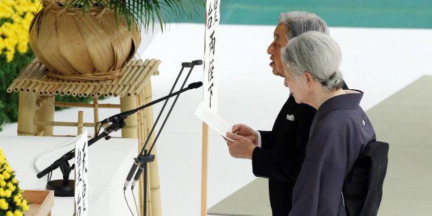 全国戦没者追悼式で、お言葉を述べられる天皇陛下=8月15日午後、東京都千代田区