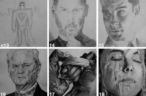 人は努力と練習で進化する。アーティストの昔と今の作品を見比べれば一目瞭然