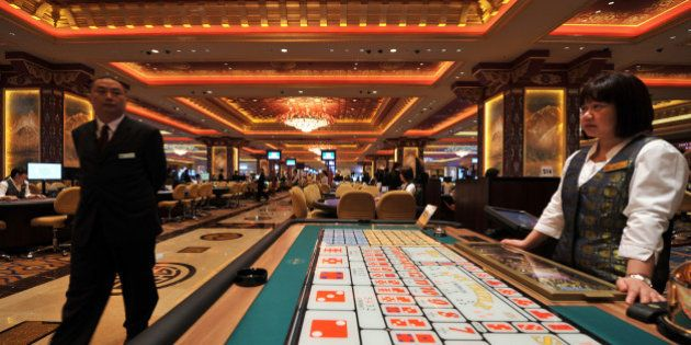 TO GO WITH SKorea-Asia-society-gaming-casino,FEATURE by Giles Hewitt(FILES) This file photo taken on...