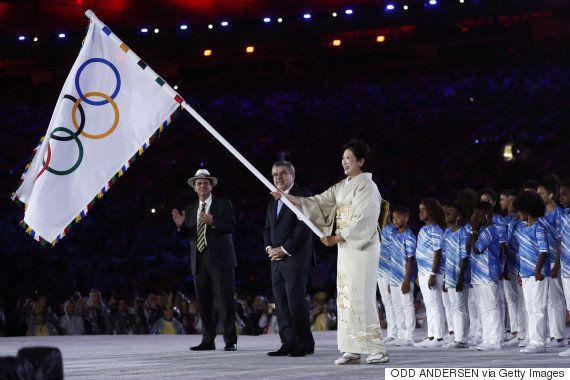 リオ閉会式で東京五輪のセレモニー キャプテン翼やドラえもん、ハローキティ、スーパーマリオが登場