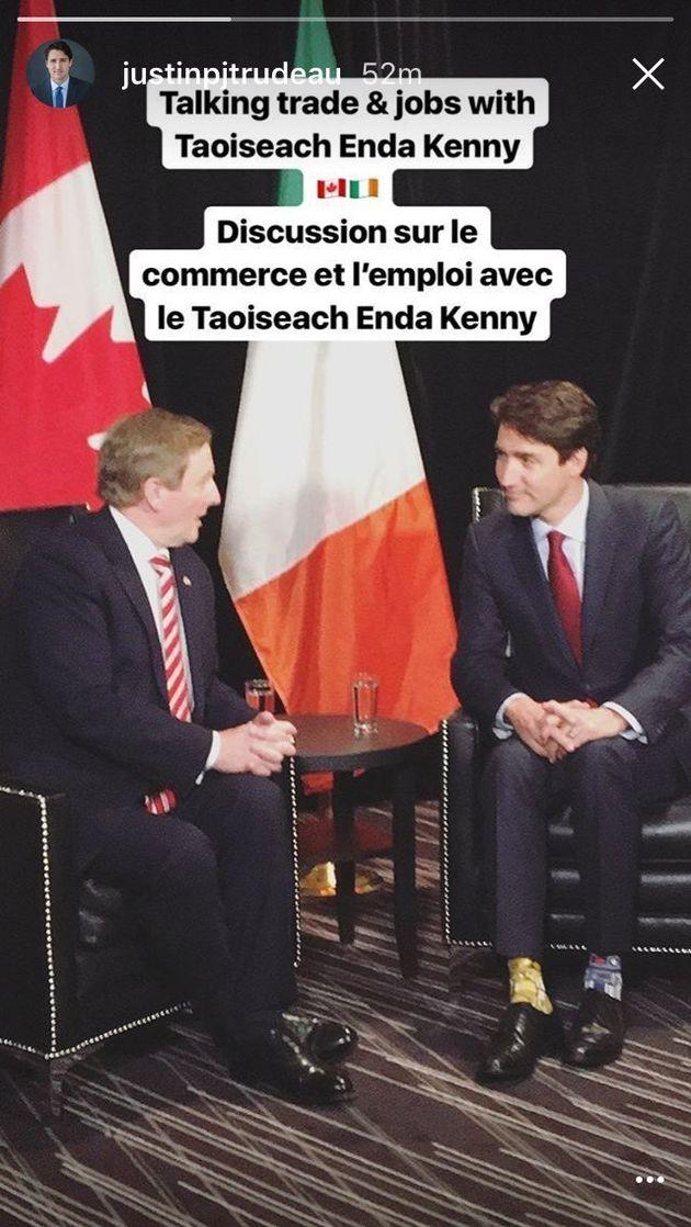 カナダのイケメン首相、スターウォーズ靴下で首脳会談しファン歓喜